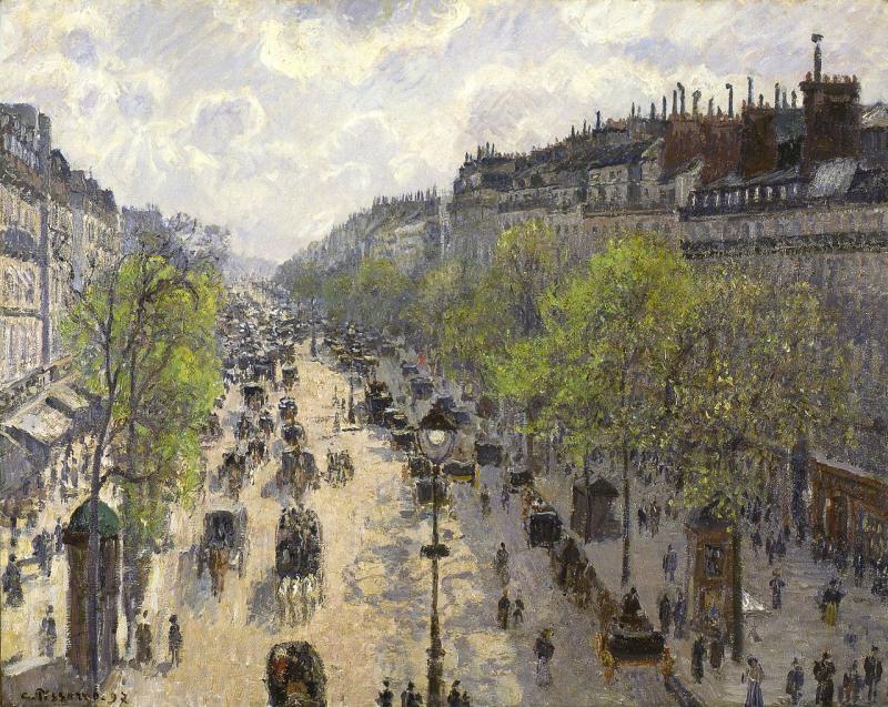 Camille-pissarro.-boulevard-montmartre-printemps-1897-