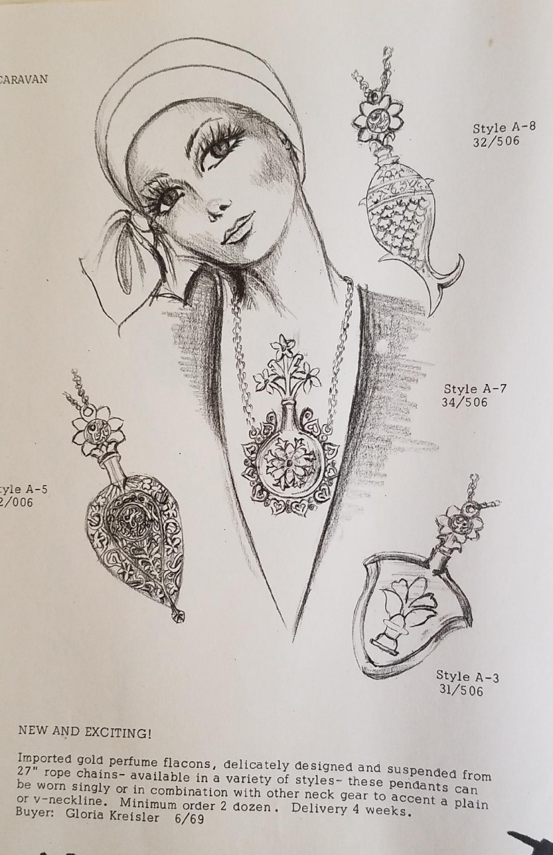 Illustration...girl face with necklaces