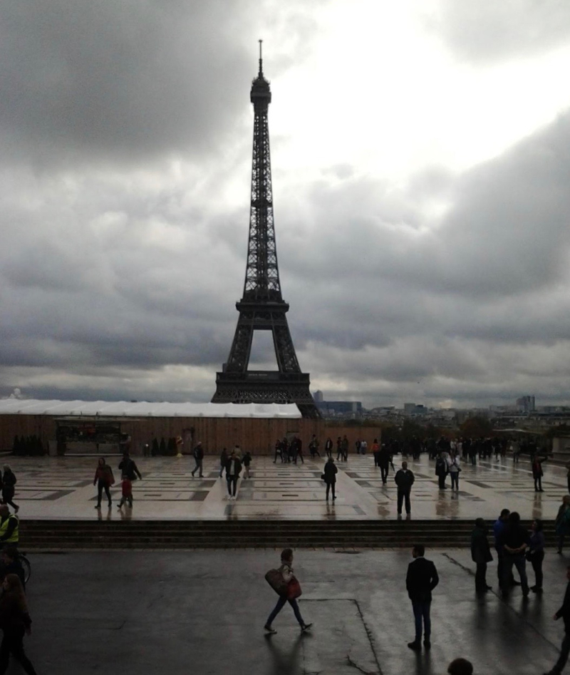 Eiffel Tower Oct. 28 2015 view from Trocadero