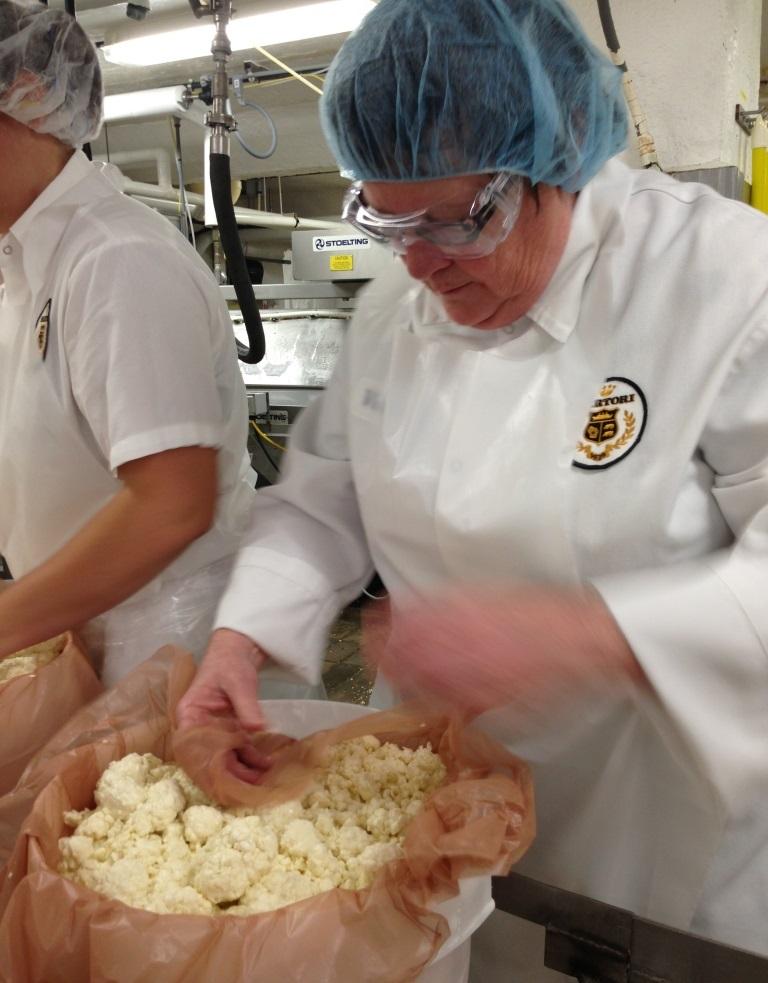 Making cheese at sartori Cheese Wisconsin