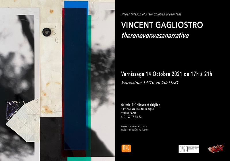 Carton d'invit Vincent GAGLIOSTRO Octobre 2021
